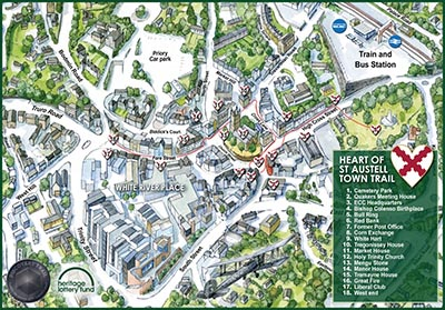 heart of st austell trail map