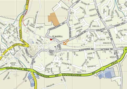Map Of St Austell Map of St Austell   St Austell Town Council