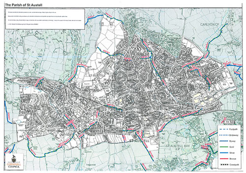 st austell footpaths map
